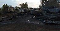 Два КамАЗа сгорели дотла в Павлодаре – при тушении пострадали два пожарных