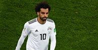 Мохаммед Салах (Египет) в матче группового этапа чемпионата мира по футболу между сборными России и Египта