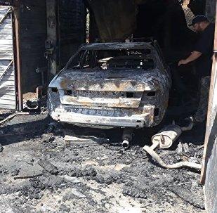 СТО и частный жилой дом горели в Жетысуском районе