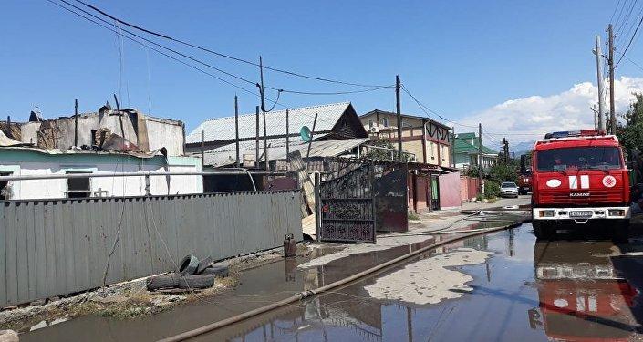 Түрксіб ауданындағы өрт
