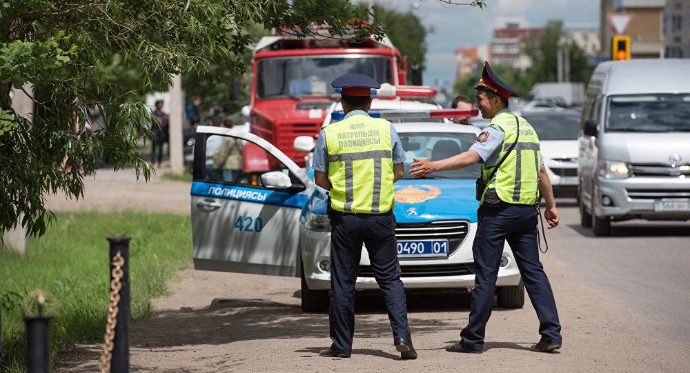 Сотрудники полиции Казахстана, архивное фото