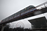 Поезд московской монорельсовой дороги, архивное фото