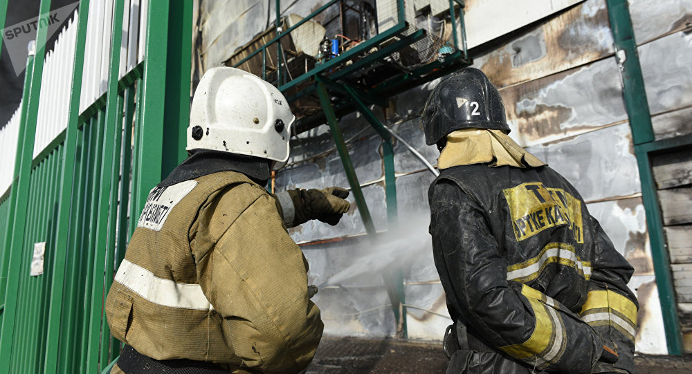 Пожарные, архивное фото
