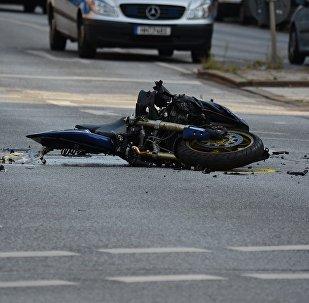 Авария, мотоцикл, иллюстративное фото