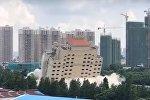 Огромный отель взорвали в Китае