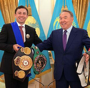 ВWBC, WBA (Super), IBO тұжырымдарының чемпионы Геннадий  Головкинмен кездесу