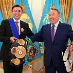 Встреча с чемпионом мира по боксу среди профессионалов по версиям WBC, WBA (Super), IBO Геннадием Головкиным