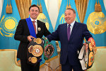 Президент Нұрсұлтан Назарбаев пен боксшы Геннадий Головкин