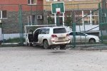 Лексус врезался в детскую спортплощадку в Кокшетау