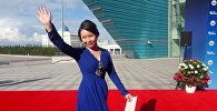 Самал Еслямова на красной дорожке кинофестиваля Евразия в Астане