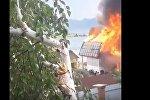 Шығыс Қазақстанда демалыс базасы өртеніп кетті - видео