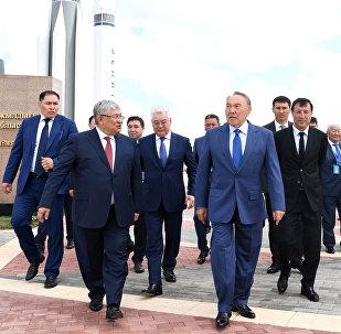 Глава государства посетил открытую экспозицию музея ракетно-космической техники, построенную Кызылординской областью в рамках проекта «Регионы в дар Астане»