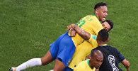 Матч Бразилия - Мексика в рамказ 1/8 финала чемпионата мира