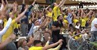 Шведтер де тойлай біледі - құрамасының жеңісіне қуанған жанкүйерлер видеосы