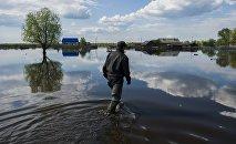 Последствия сильного дождя, архивное фото