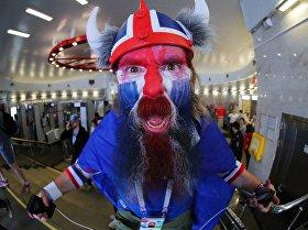 Болельщик сборной Исландии