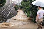 Жапонияда нөсер жауыннан кейін су тасқыны болды