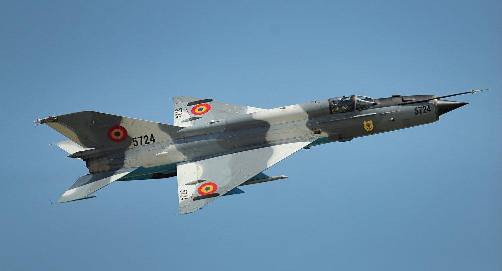 Самолет МиГ-21 румынских ВВС, архивное фото