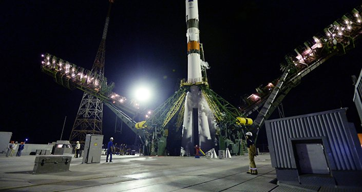 Запуск ракеты с космодрома Байконур, архивное фото