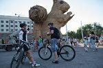 Гигантский арт-объект Белка в Алматы