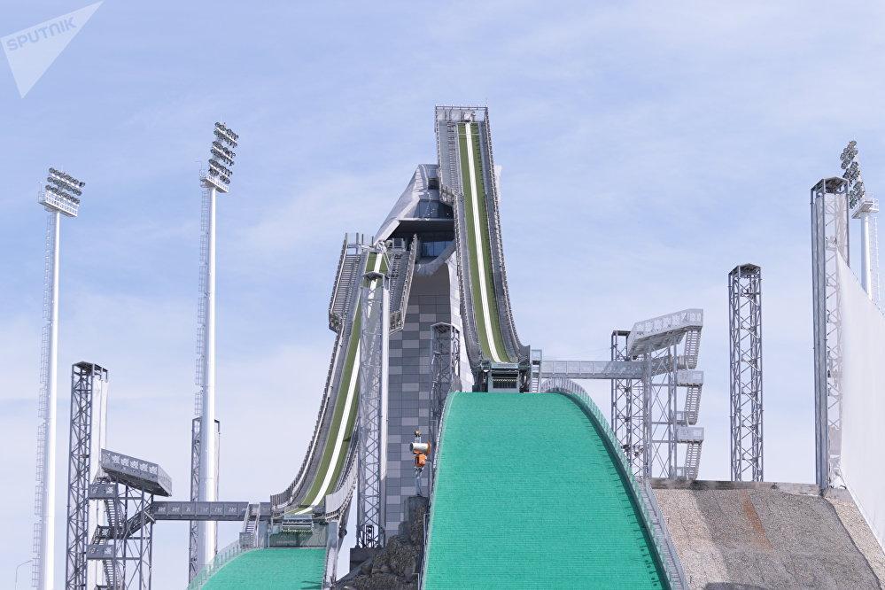 Республиканская база лыжного спорта с трамплином в Боровом