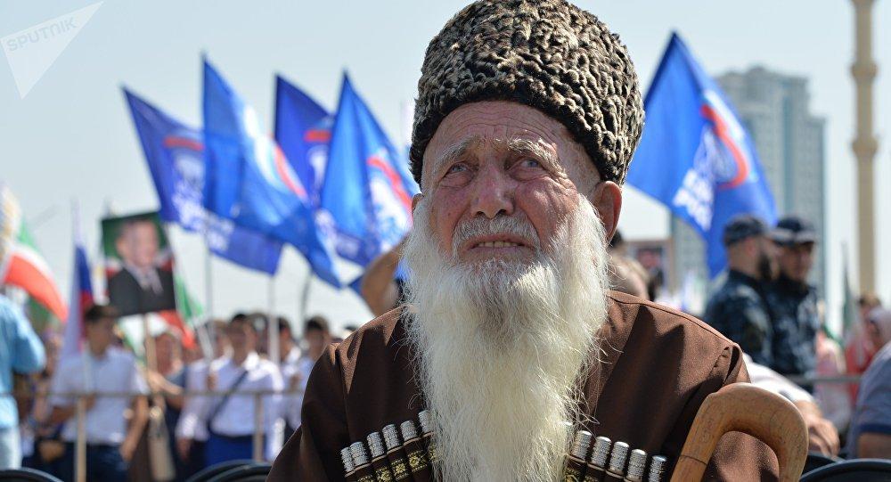 Празднование Дня Чеченской Республики в Грозном