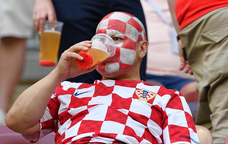 Болельщики перед матчем ЧМ-2018 по футболу между сборными Хорватии и Англии