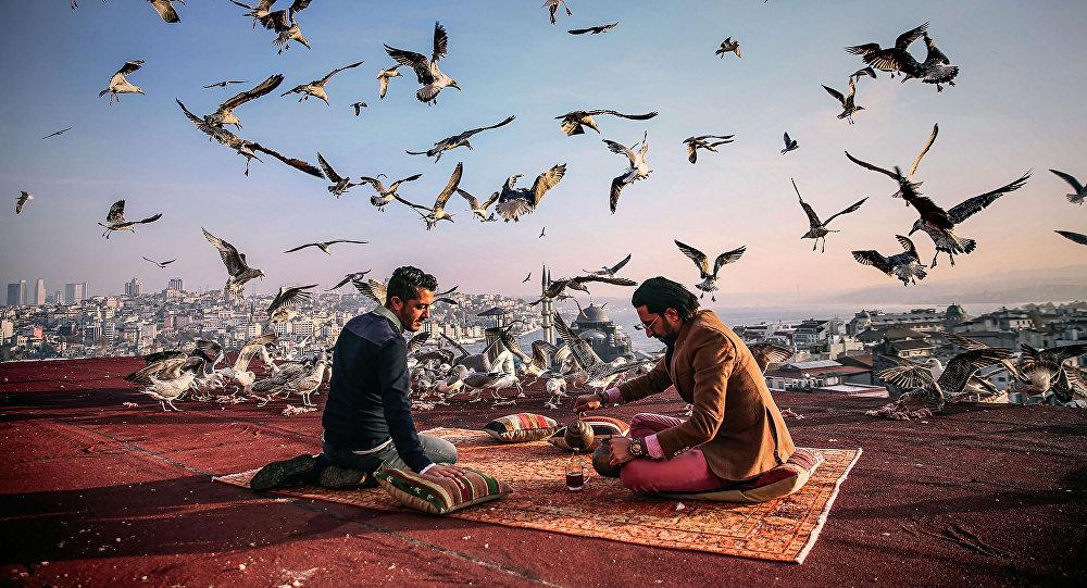 Работа Завтрак на привале Себнема Коскуна из Турции