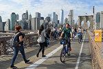 Манхэттэн, виды Нью-Йорка, архивное фото