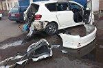 Машина взорвалась в Алматы, пострадала девочка