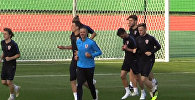 Тренировка хорватов перед финалом ЧМ