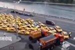 Видеофакт: тысячи болельщиков вызвали такси после финала ЧМ-2018
