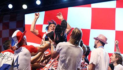 Сборная Хорватии вернулась на родину