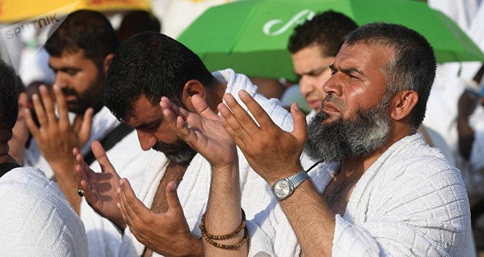 Паломники во время хаджа в Саудовской Аравии