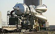Ракета на стартовой площадке космодрома Байконур, архивное фото