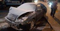 Авто сгорело дотла в результате аварии в Алматы