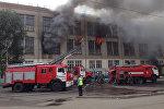 Пожар произошел на коммунальном рынке в Петропавловске