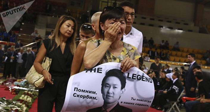 Алматыдағы Денис Тенмен қоштасу рәсімі