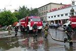 Пожар на коммунальном рынке в Петропавловске ликвидирован