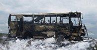 Рейсовый автобус сгорел дотла на севере Казахстана