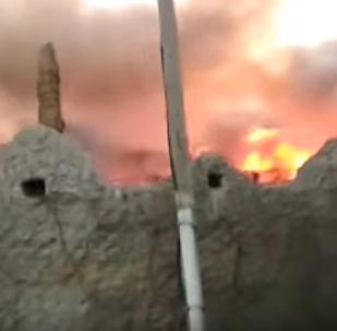 Түркістан облысында дәмхана өртеніп кетті