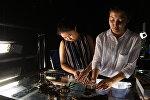Юные мультипликаторы из Казахстана Томирис Давлетова и Адель Дуйсебаева