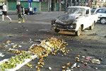На овощном рынке в городе Эс-Сувейда смертники, замаскированные под торговцев, совершили самоподрыв
