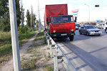 КамАЗ сбил пешехода на Капчагайской трассе