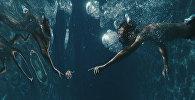 Человек плывет под водой, архивное фото