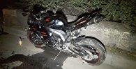 Lada Priora врезалась в мотоцикл