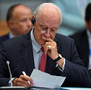 Специальный посланник генерального секретаря ООН по Сирии Стаффан де Мистура на Х Международной встрече высокого уровня по Сирии в астанинском формате