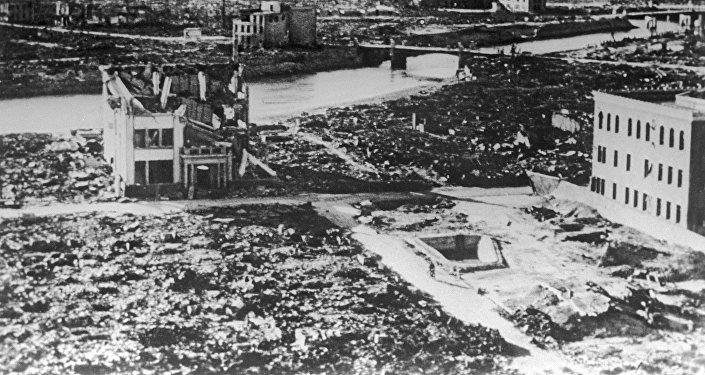 Хиросима после американской атомной бомбардировки. Вторая мировая война (1939-1945)
