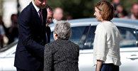 Принц Уильям и Тереза Мэй, 8 августа 2018 года