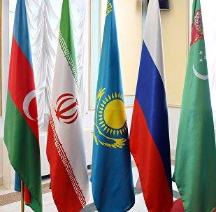 Флаги стран-участниц Каспийского саммита